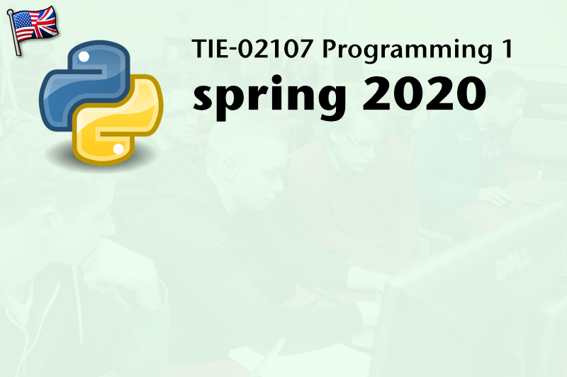 TIE-02107 Programming 1: Introduction