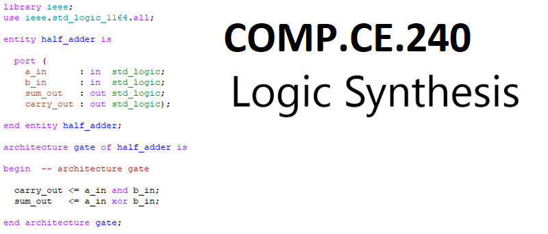COMP.CE.240 Logic Synthesis